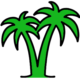 Get treatment for travel related conditions. Graphic of palm trees